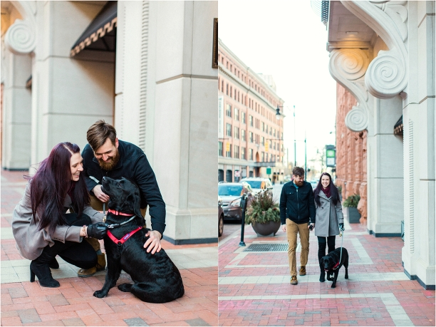 Grand Rapids Engagement Session Travis Kate at Madcap Coffee by Tifani Lyn Photography_0002
