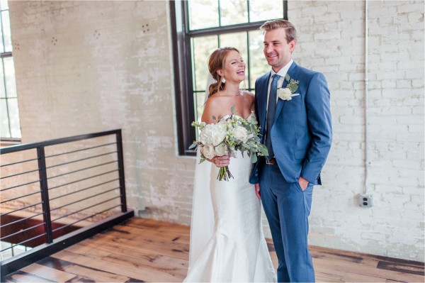 Journeyman Distillery Wedding by Tifani Lyn Photography // First Look